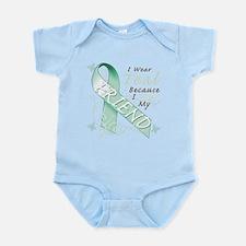 I Wear Teal Because I Love My Friend Infant Bodysu