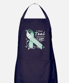 I Wear Teal Because I Love My Friend Apron (dark)
