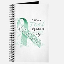 I Wear Teal Because I Love My Friend Journal