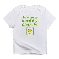 The answer is no Infant T-Shirt