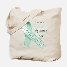 I Wear Teal Because I Love My Daughter Tote Bag