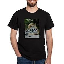 Jaguar Portrait Black T-Shirt