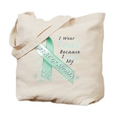 I Wear Teal Because I Love My Great Grandma Tote B