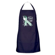 I Wear Teal Because I Love My Niece Apron (dark)