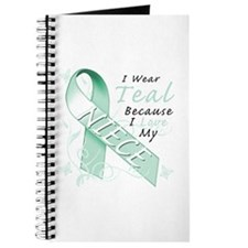 I Wear Teal Because I Love My Niece Journal