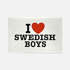 I Love Swedish Boys Rectangle Magnet