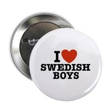 I Love Swedish Boys Button