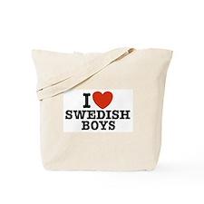 I Love Swedish Boys Tote Bag