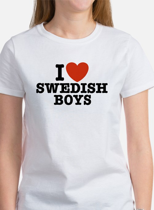 I Love Swedish Boys Women's T-Shirt
