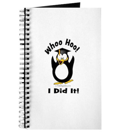 Whoo Hoo I Did it Penguin Gra Journal
