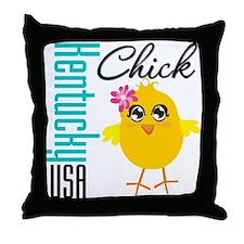 Kentucky Chick Throw Pillow