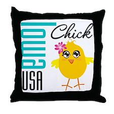 Iowa Chick Throw Pillow