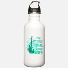I'm Rockin' Teal for my Wife Water Bottle