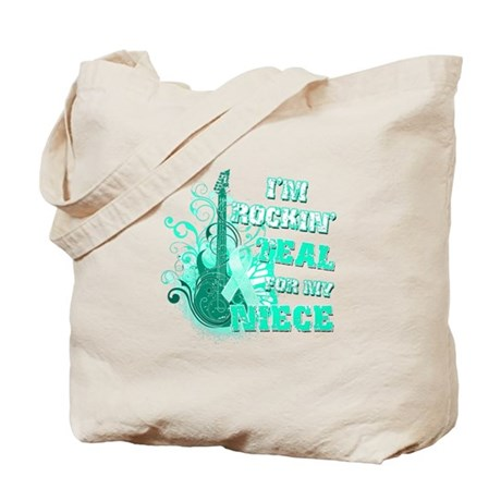 I'm Rockin' Teal for my Niece Tote Bag