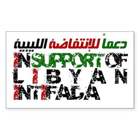 Libyan Intifada Sticker (Rectangle)
