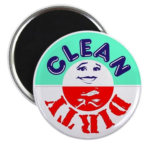 """Clean/Dirty Dishwasher 2-1/4"""" Magnet"""
