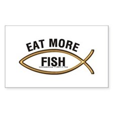 Eat More Fish Rectangle Decal