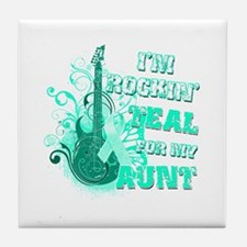 I'm Rockin' Teal for my Aunt Tile Coaster