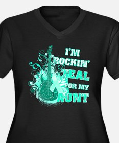 I'm Rockin' Teal for my Aunt Women's Plus Size V-N