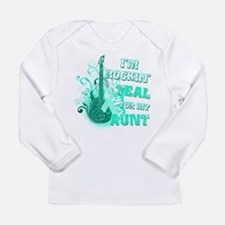 I'm Rockin' Teal for my Aunt Long Sleeve Infant T-
