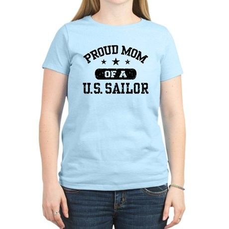 Proud Mom of a US Sailor Women's Light T-Shirt