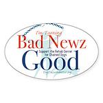 I'm Turning Bad Newz Good Sticker (Oval)