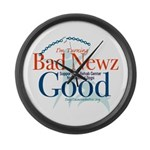 I'm Turning Bad Newz Good Large Wall Clock