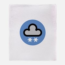 Snow Weather Symbol Throw Blanket