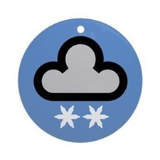 Snow Weather Symbol Ornament (Round)