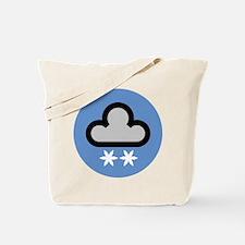 Snow Weather Symbol Tote Bag