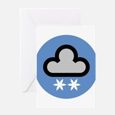 Snow Weather Symbol Greeting Card