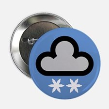 "Snow Weather Symbol 2.25"" Button (10 pack)"