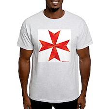 Maltese Cross Ash Grey T-Shirt