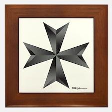 Maltese Cross Framed Tile