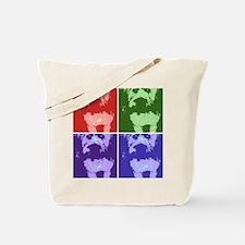 Wheaton Terrier Pop Art Tote Bag