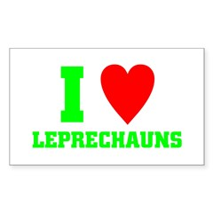 I LOVE Leprechauns Decal