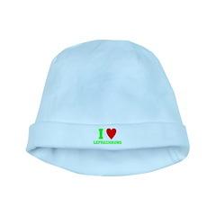 I LOVE Leprechauns baby hat