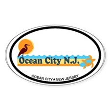 Ocean City NJ - Beach Design Decal