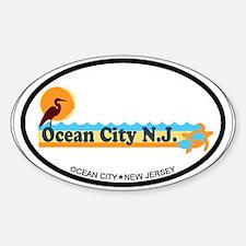 Ocean City NJ - Beach Design Decal