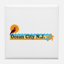 Ocean City NJ - Beach Design Tile Coaster