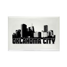Oklahoma City Skyline Rectangle Magnet