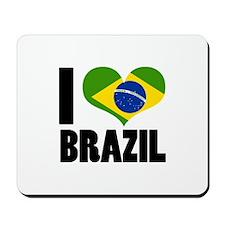 I Heart Brazil Mousepad