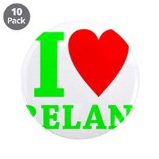 "I LOVE IRELAND 3.5"" Button (10 pack)"