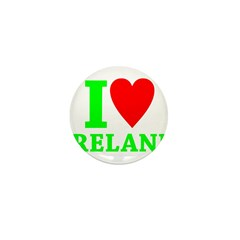 I LOVE IRELAND Mini Button (100 pack)