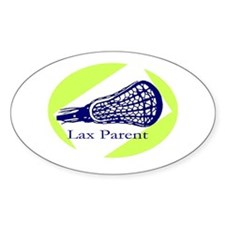 Lax Parent Oval Decal