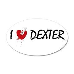 I heart Dexter 38.5 x 24.5 Oval Wall Peel