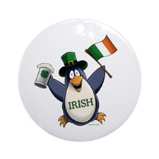 Irish Penguin Ornament (Round)