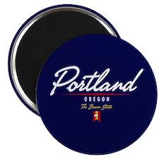Portland Script Magnet