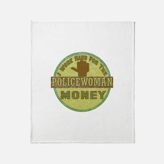 Policewoman Throw Blanket