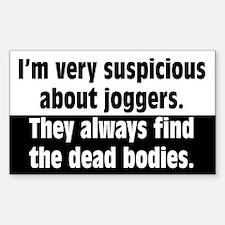 Jogger Suspicions Sticker (Rectangle)